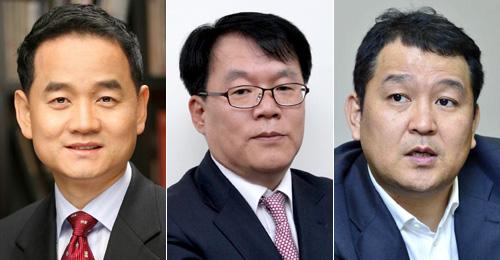 (왼쪽부터)구재상 케이클라비스투자자문 대표, 서재형 대신자산운용 대표, 박건영 브레인자산운용 대표
