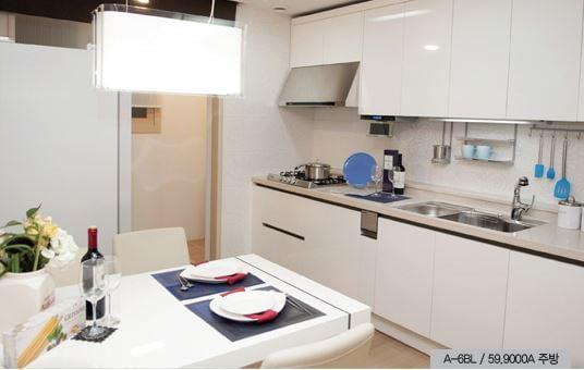 수원 호매실지구 A6블록 LH아파트 전용면적 59㎡ 주방 모습.
