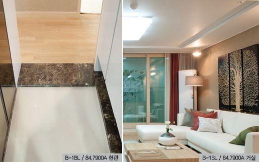 수원 호매실 지구 LH아파트 B1블록 전용면적 84㎡의 내부 모습.