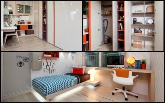 84㎡ 내부 평면. 주방 알파룸, 주방팬트리, 자녀방의 모습