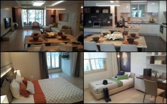 전용 84㎡A 모델하우스 내부 모습