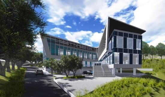 현대건설의 그린 스마트 실증연구시설 조감도.