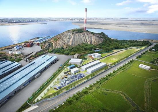 현대건설의 중금속 오염 토양 정화시설 조감도.