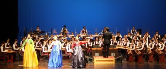 11월20일 진행된 국립국악학교 학생들의 경기도 성남 공연 장면.