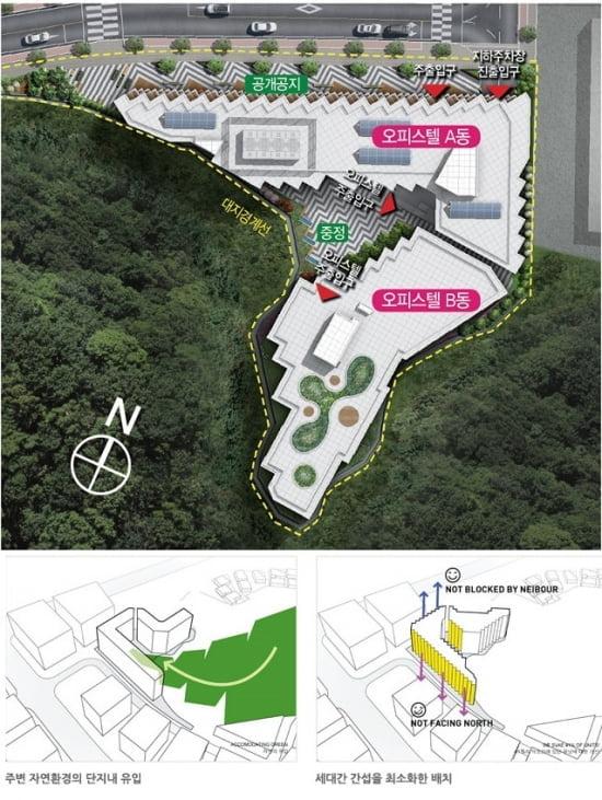 ▶ 강남지웰홈스 단지배치도 (제공=신영)