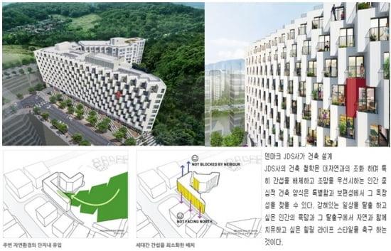 ▶ 강남지웰홈스 조감도, 설계도 (제공=신영)
