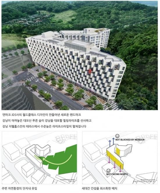 ▶ 강남지웰홈스 조감도(제공=신영)