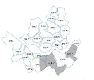 서초+송파+강동주요대로변(역세권)의 오피스