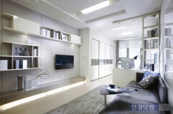'래미안 용산' 오피스텔 전용면적 41㎡ 거실. (자료 삼성물산)
