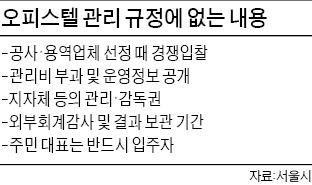 주택법에 오피스텔 별도규정 없어…공동 관리비 부풀리기 많아   부동산   한경닷컴