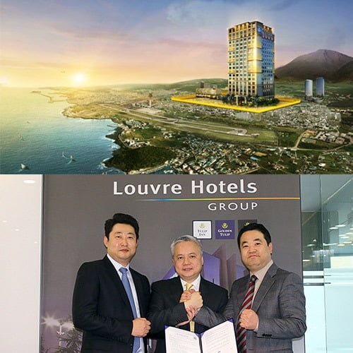 프랑스 호텔 체인 루브르호텔그룹의 4성급 골든튤립 제주노형호텔