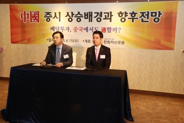 <사진: 박준흠 상무(좌), 양우석 매니저(우)>