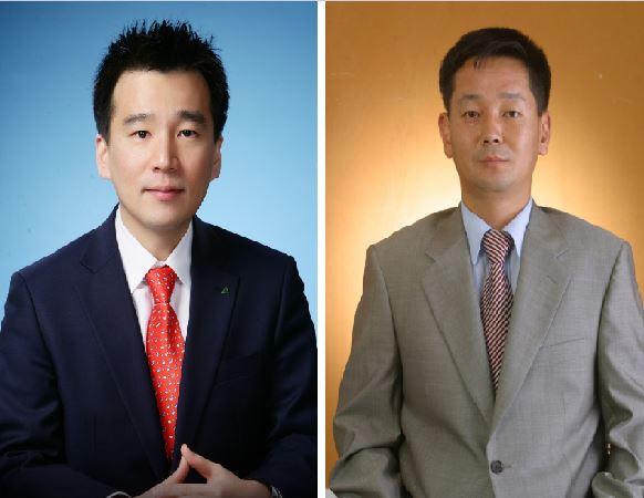 <민재기 현대증권 과장(좌), 구창모 유안타증권 지점장(우)>