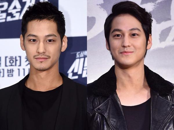 김범. 사진 왼쪽은 6월3일  tvN '신분을 숨겨라' 제작발표회, 오른쪽은 올 1월 영화 '강남 1970' VIP 시사회 / 한경닷컴DB