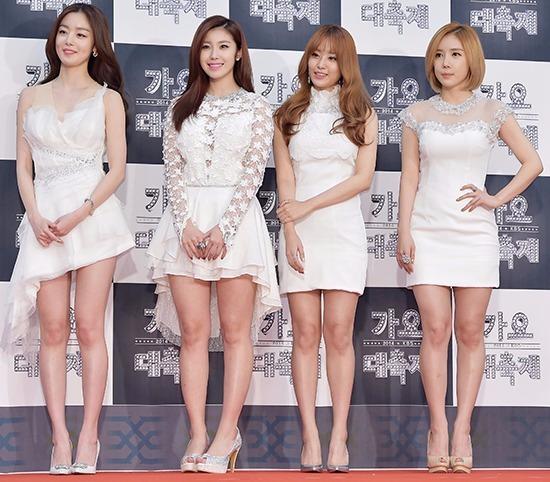 지난해 12월 KBS 가요대축제에 참석한 시크릿의 모습. 최근 불화설이 불거졌다. 사진=진연수 기자