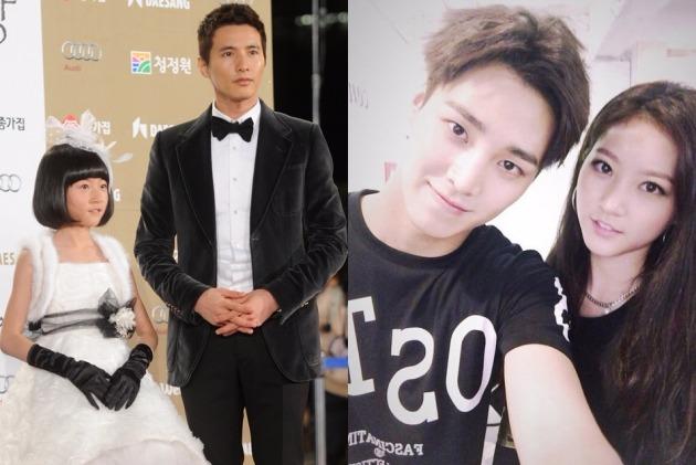 사진 왼쪽은 2010년 청룡영화제 김새론-원빈, 오른쪽은 2015년 김새론 인스타그램