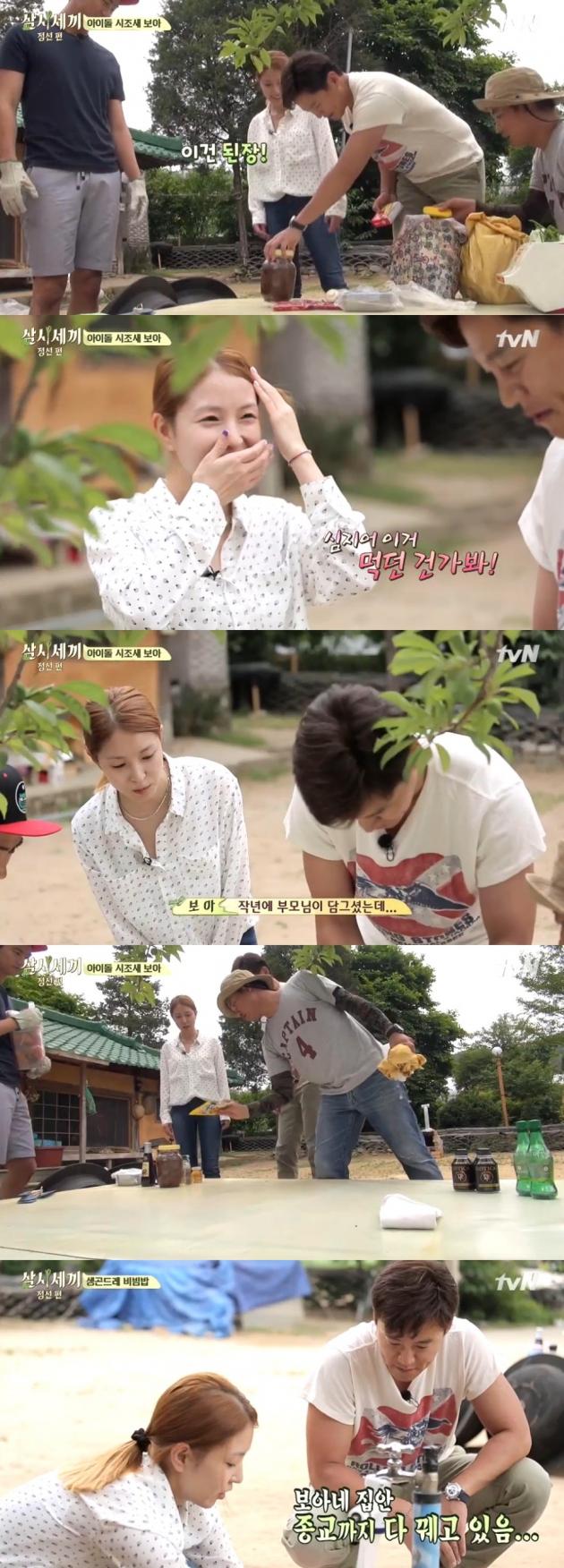 '삼시세끼' 보아 / '삼시세끼' 보아 사진=tvN 방송 캡처