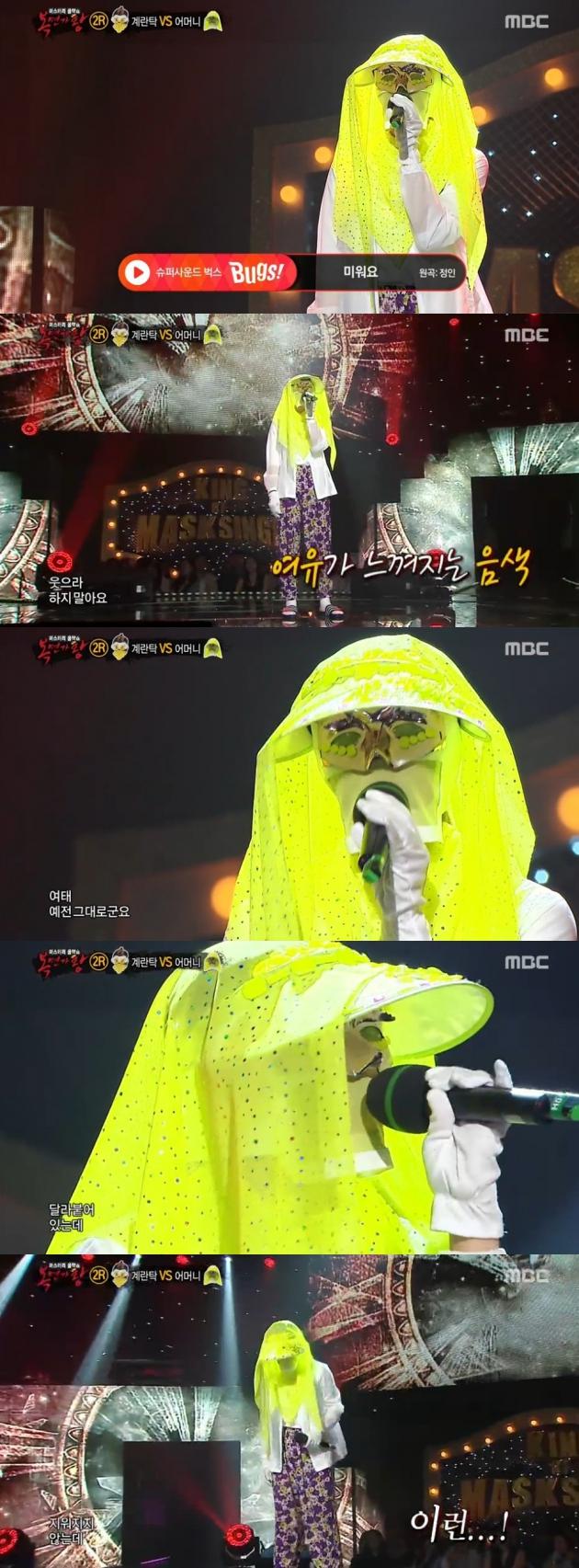 복면가왕 어머니 / 복면가왕 어머니 사진=MBC 방송 캡처