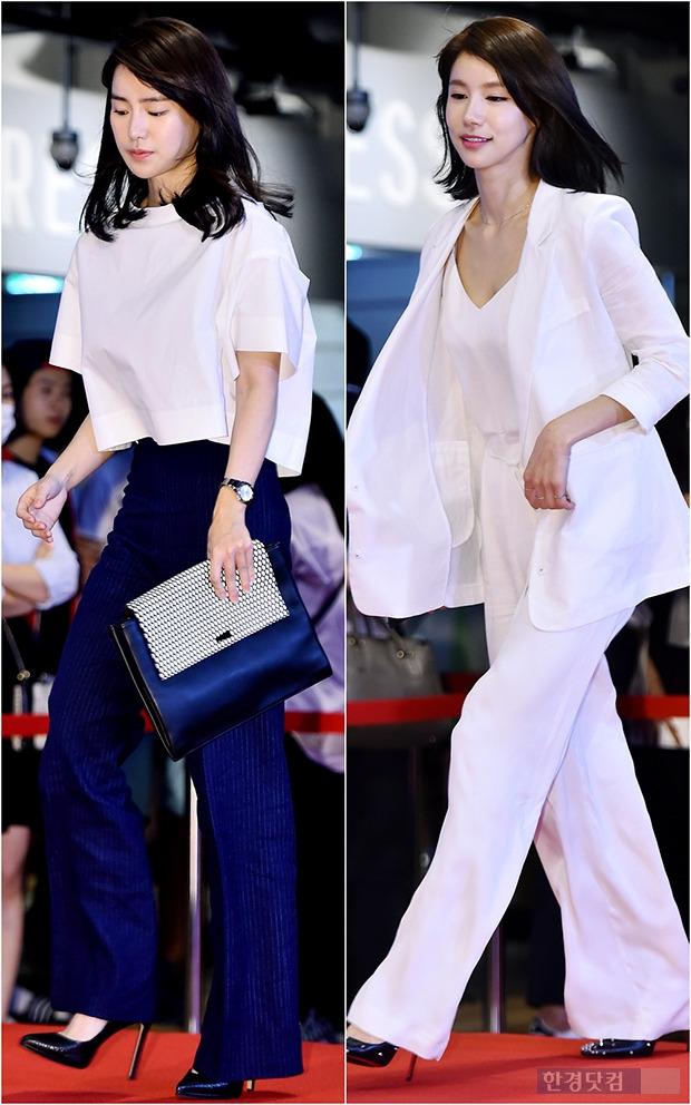 ↑임지연-오인혜, '무심한 듯 세련된 와이드팬츠 활용법'