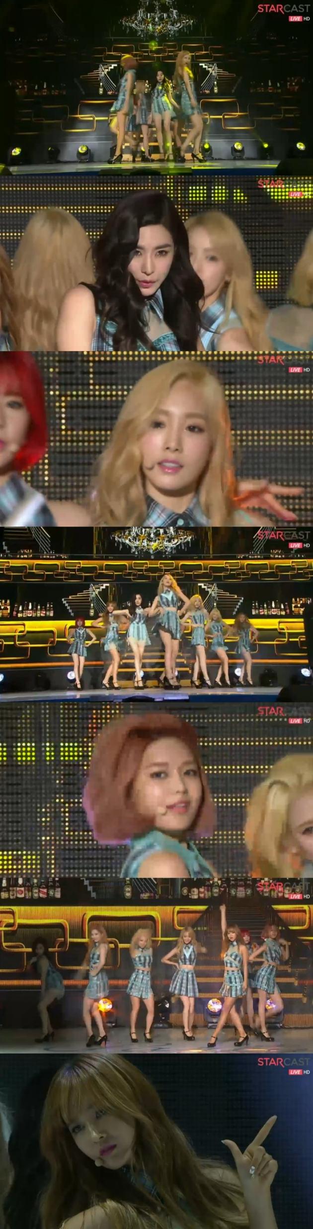소녀시대 체크 / 소녀시대 체크 사진=네이버 캐스트 방송 캡처