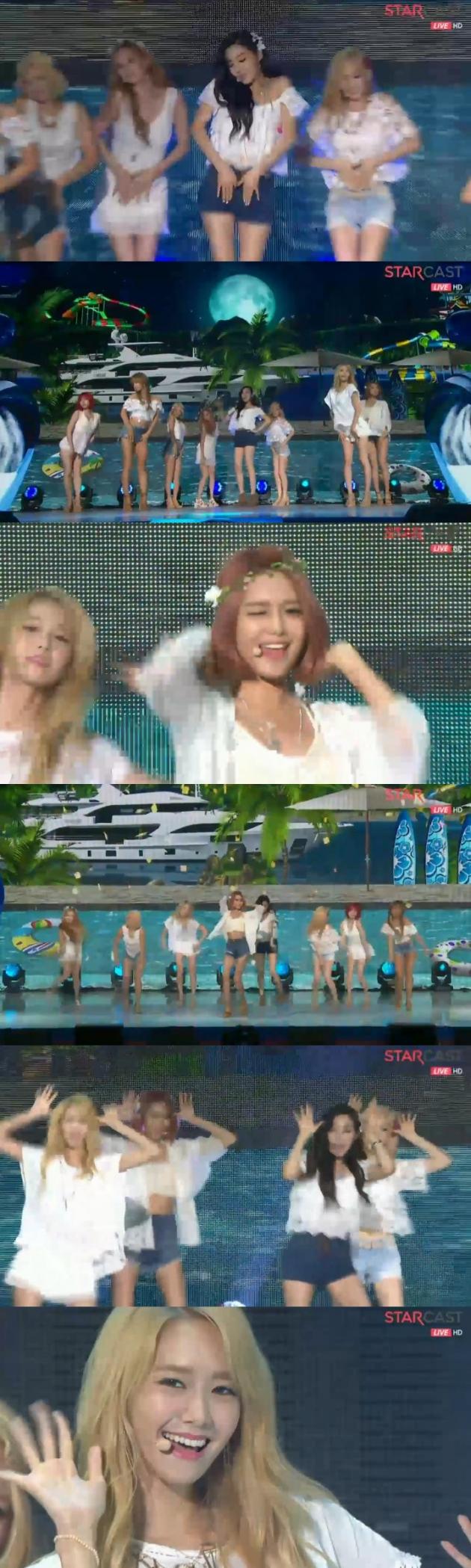 소녀시대 파티 / 소녀시대 파티 사진=네이버캐스트 방송 캡처