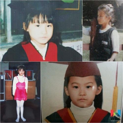 유인영 어린시절 모습 / 사진=유인영의 소속사 윌엔터테인먼트 공식 페이스북