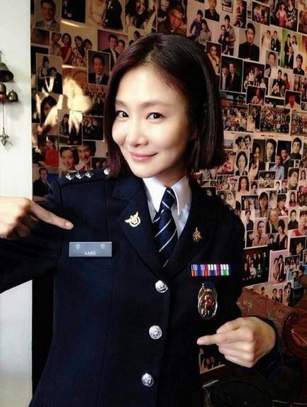 '라디오스타' 박효주, 경찰 제복 인증샷이 '깜찍'(사진=트라이앵글 박효주)
