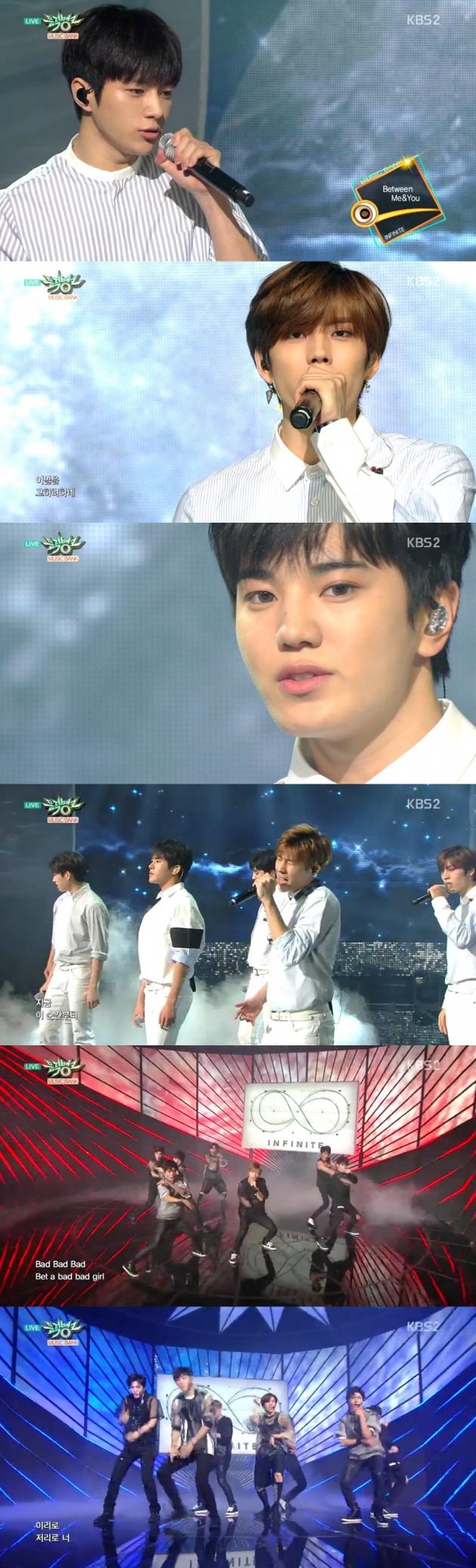 '뮤직뱅크' 인피니트 / '뮤직뱅크' 인피니트 사진=KBS2 방송 캡처