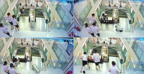 중국 에스컬레이터 사고 중국 에스컬레이터 사고 / 사진 = 중국 인터넷 캡처