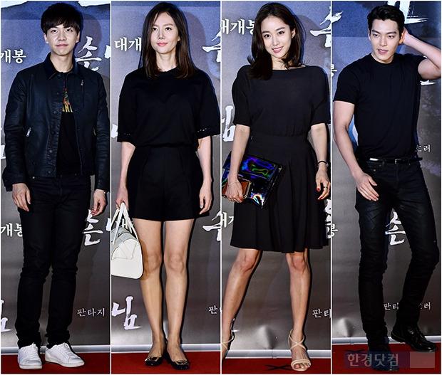 ↑이승기-염정ㅇ-전혜빈-김우빈, 시크의 대명사 '블랙 활용법'