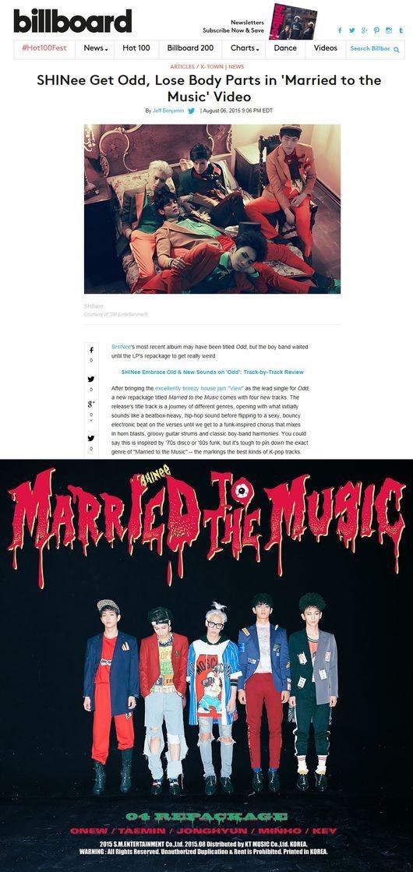 샤이니 'Married To The Music / 샤이니 'Married To The Music 사진=빌보드 홈페이지