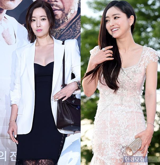 2014년 7월 영화 '신의 한 수' 시사회(좌)·2015년 7월 부천국제판타스틱영화제(우) 홍수아 / 사진=한경DB