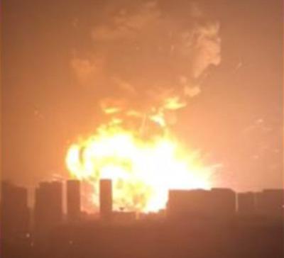 중국 텐진 폭발 / 사진 = 유튜브 영상 캡처