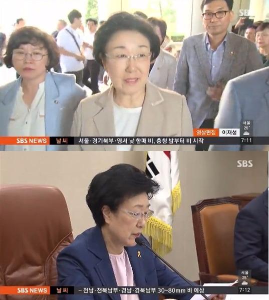 한명숙 정치자금법 위반 혐의 징역 2년 / 사진=SBS 뉴스 캡처