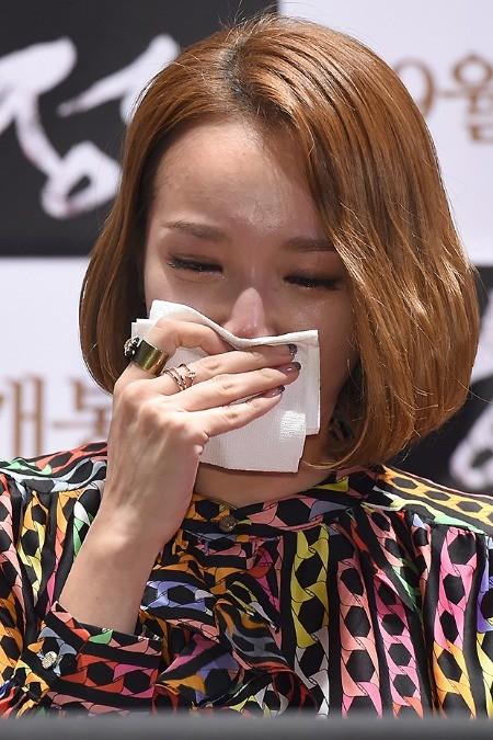 김민경. 26일 영화 '함정' 언론시사회에서의 모습. 사진=변성현 기자