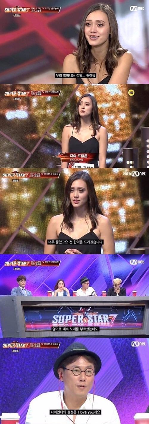 슈퍼스타 K7 디아 프램튼 / 사진=Mnet '슈퍼스타K7' 방송화면 캡처