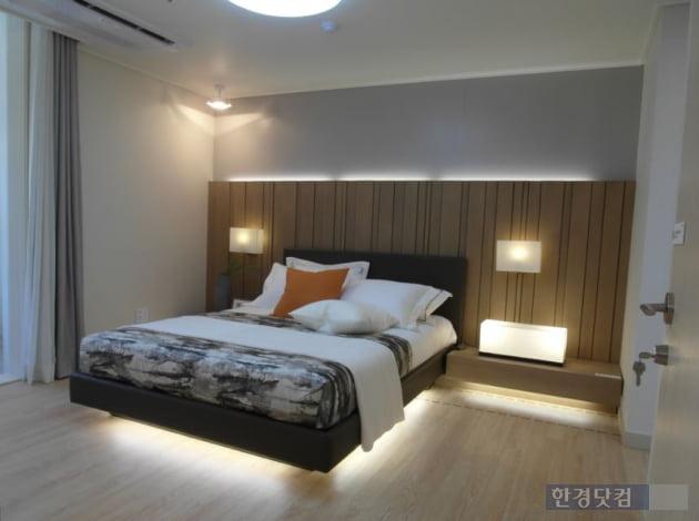 기흥역 파크 푸르지오의 아파트 전용 84㎡A 내부. 사진= 김하나 기자