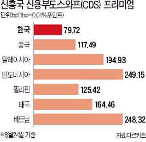 [커지는 '중국 리스크'] 중국 리스크 '불똥'…신흥국 부도위험↑ | 국제 | 한경닷컴
