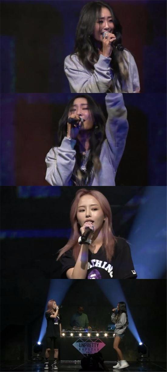 언프리티 랩스타2 효린 캐스퍼 / 사진=Mnet '언프리티 랩스타2' 영상캡처