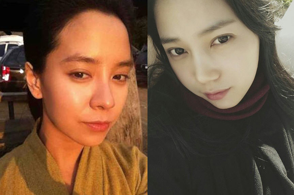 좌) 송지효, 우) 미쓰라진 예비신부 권다현 /사진-권다현 인스타그램, 송지효 페이스북