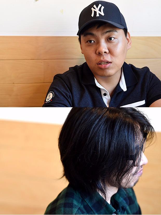 (위에서 부터) '거기 그 사람들'의 김오늘 작가, '짜리몽툰'의 애풍 작가.