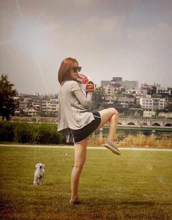 길은혜 시구 / 사진=길은혜 인스타그램