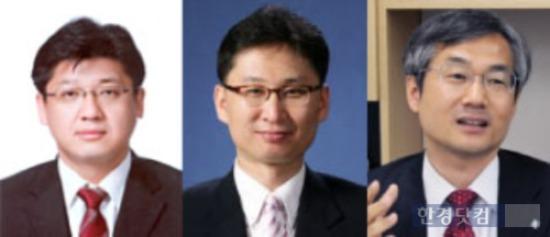 왼쪽부터 김영준 교보증권 리서치센터장 한승호 신영증권 리서치센터장 이종우 IBK투자증권 리서치센터장.