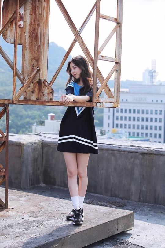 '키이스트 전속계약' 안소희 /리복 촬영 비하인드 컷