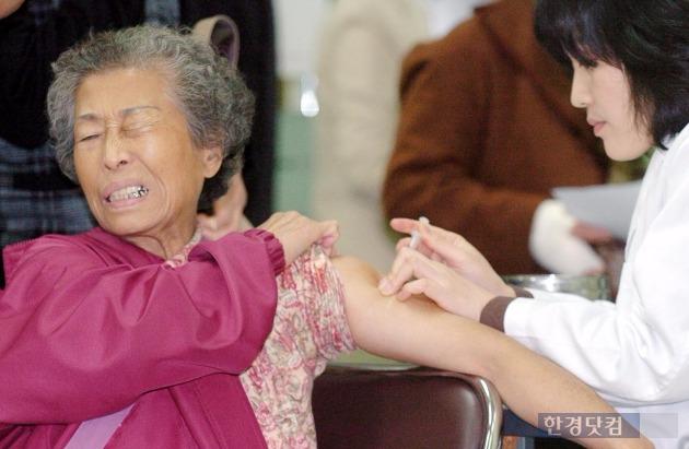 독감 예방접종, 65세 이상 노인 무료 /한경DB