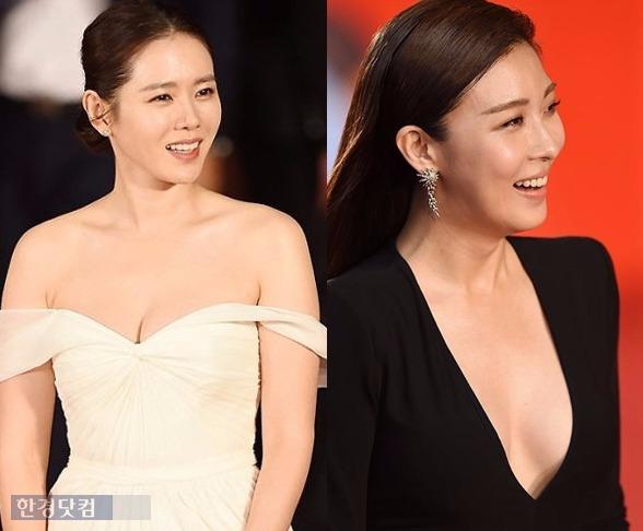 '부산국제영화제'에 참석한 하지원과 손예진.