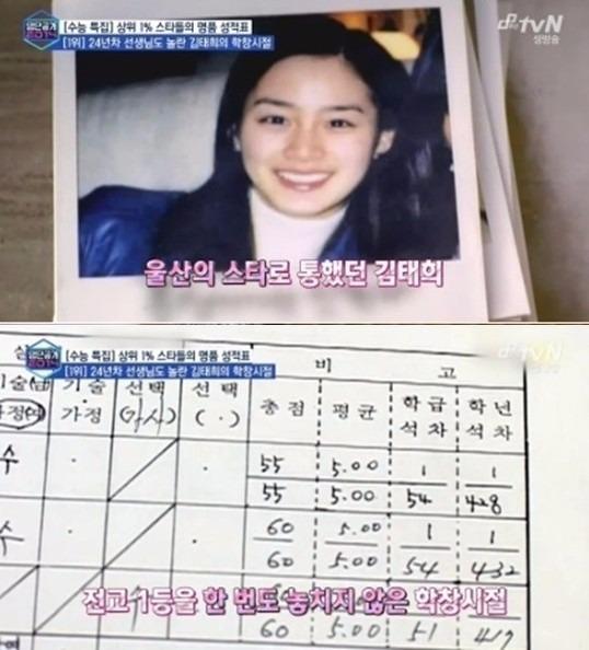 10월 모의고사 김태희 / 사진=tvN '명단공개 2014' 방송화면 캡처
