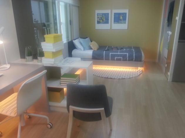 가변형 벽체를 적용해 방2개를 합칠 수도 있는 전용 74㎡ 자녀방.