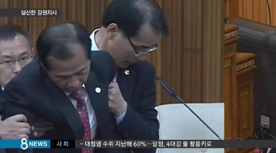 최문순 실신 최문순 / 사진=방송화면 캡쳐