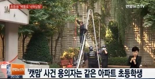 '캣맘 사건' 피해자가 작업 중이던 아파트. 연합뉴스TV 캡처